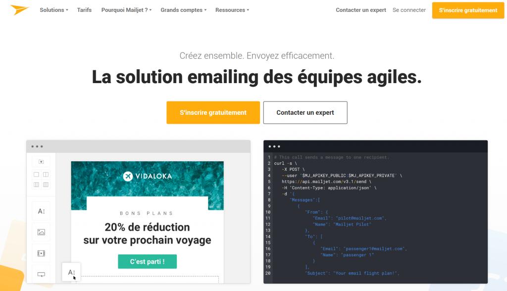 MailJet - Emailing en équipe