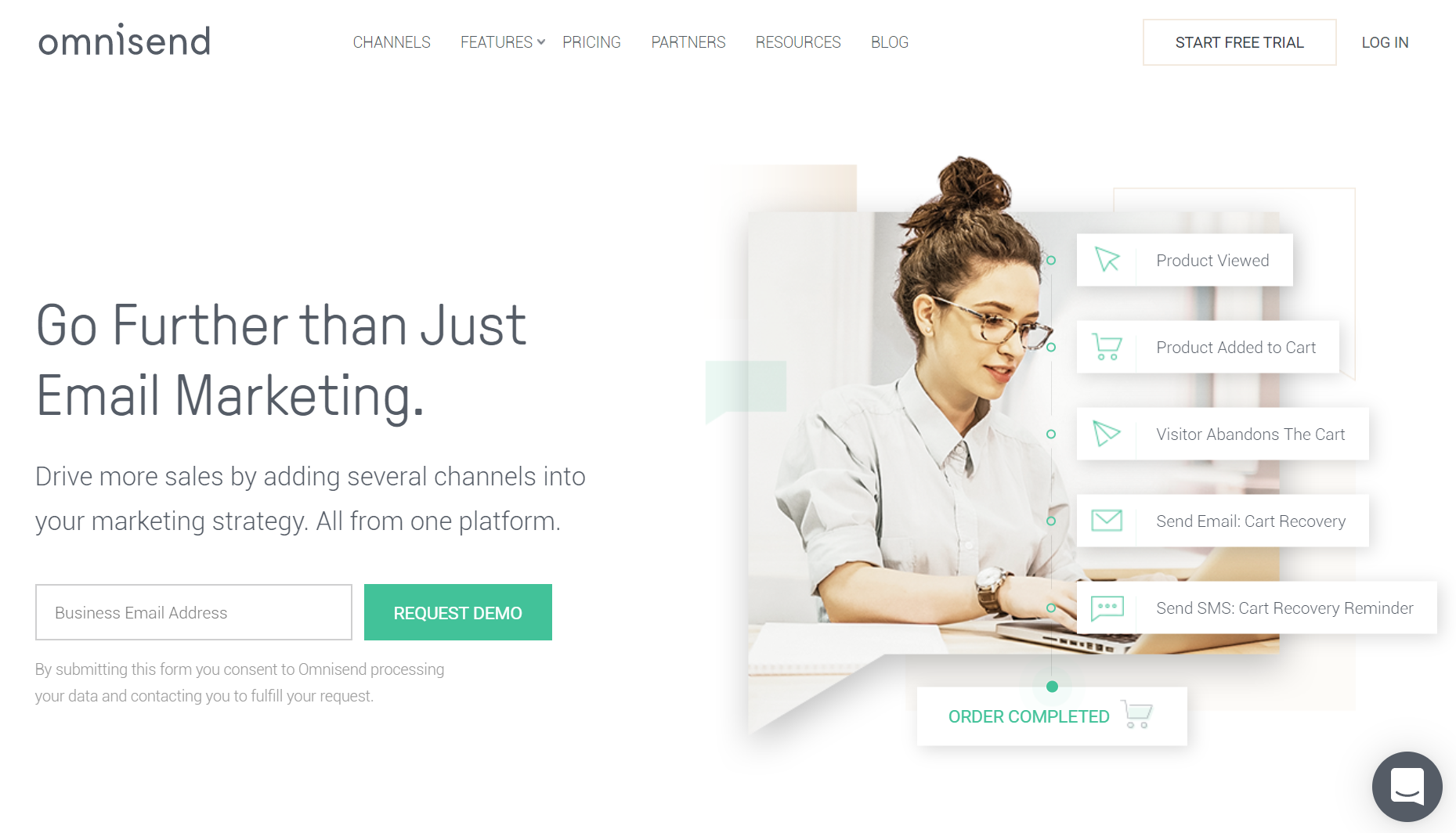 Omnisend - Service email pour ecommerce